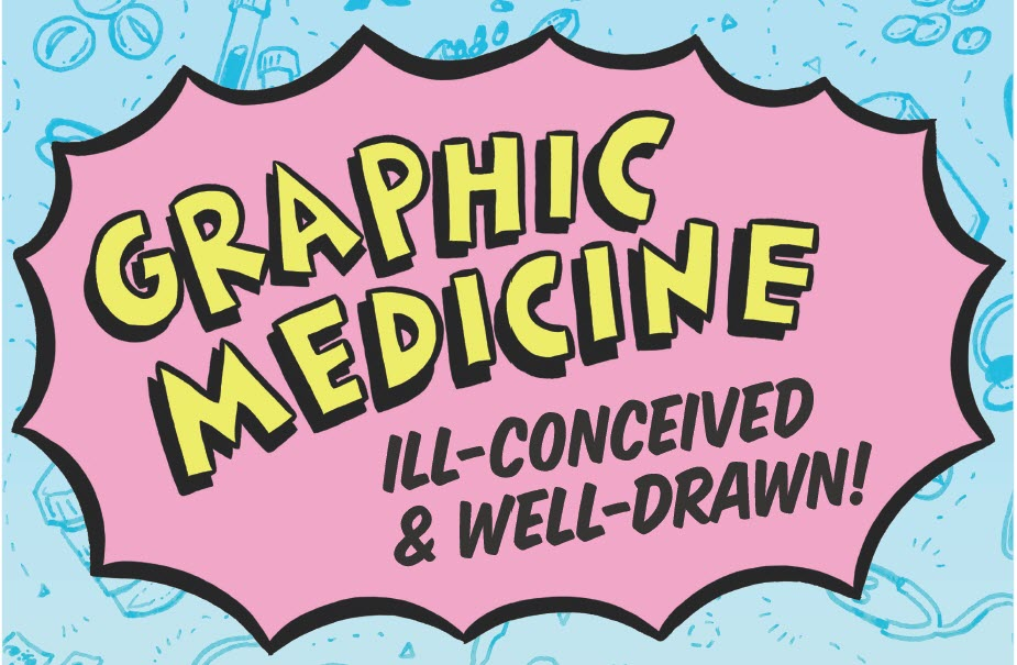 Logo for NLM Graphic Medicine exhibit