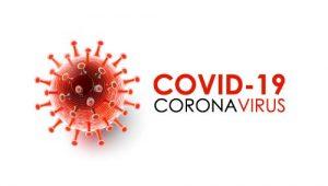 A red coronavirus