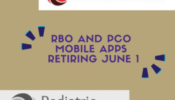 RBO and PCO mobile apps retiring June 1, 2021